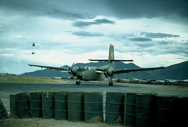 Qui Nhon 1968 - C-123 Caribou on Qui Nhon Airfield.  #VietnamWarMemories