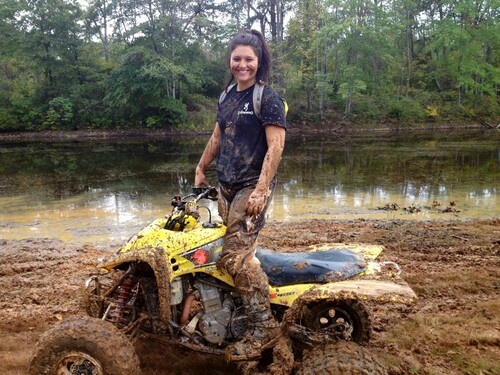 Girls with quads mud #3