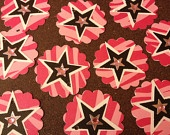 """Free Shipping"" Set of 24 Handcrafted Cardstock Rock Star Princess Tags ... $6.99"