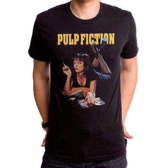 Pulp Fiction Mia PLP0011-101BLK Men's T-Shirt. 90s by GoodieTees