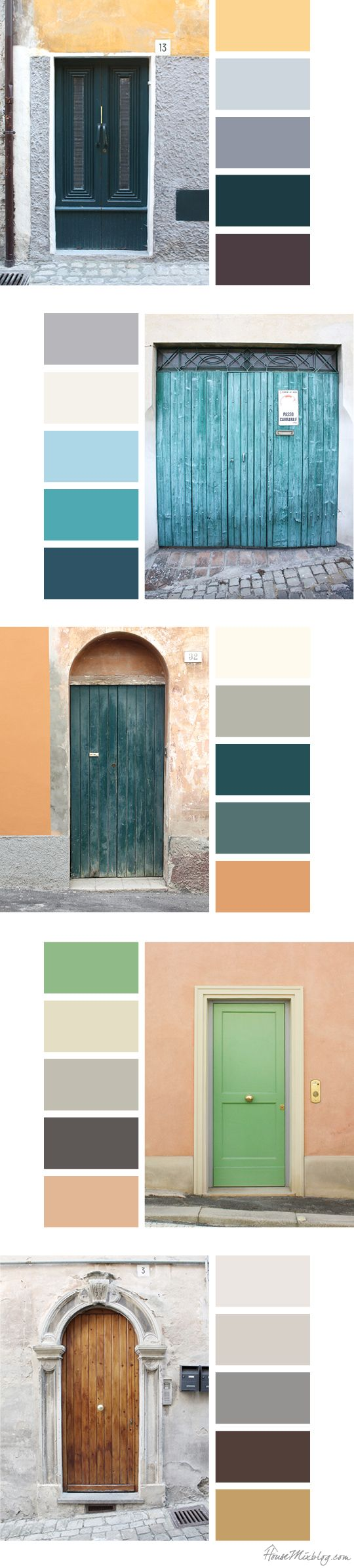 Italian door color palette inspiration
