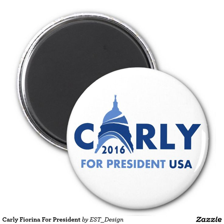 Carly Fiorina For President 2 Inch Round Magnet