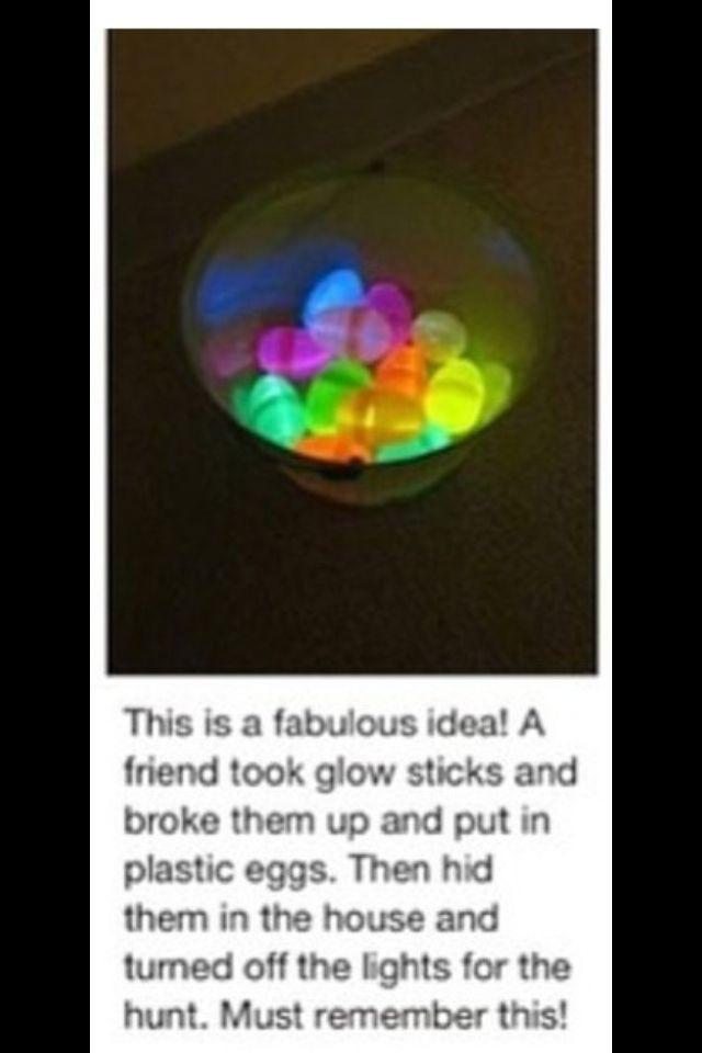 glow sticks in Easter eggs?!
