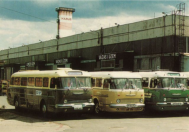 vintage bus ikarus | ikarus type 55 bus in front of the old factory budapest ikarus type 55 ...