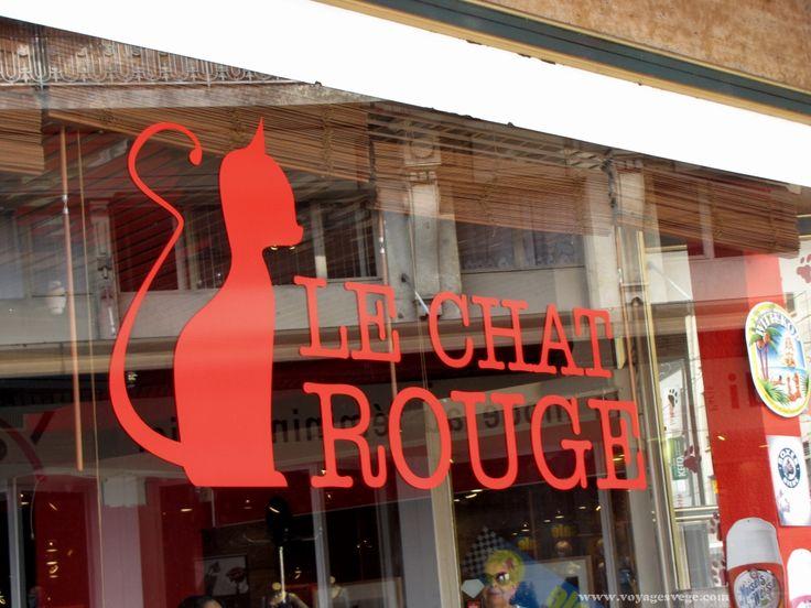 """C'est en marchant dans la ville de Vevey que les mots """"plats végétariens, sans gluten et sans lactose"""" sur une ardoise de trottoir ont retenu mon attention. Ce restaurant est à moins de 8 minutes de marche du musée Alimentarium et de la statue de Charlie Chaplin.  Restaurant Le Chat Rouge, Vevey Durant la saison estivale, la terrasse permet de profiter agréablement du beau temps ou se prélasser dans le fauteuil à l'extérieur. Dans la vitrine, deux chats rougesguettentles c..."""