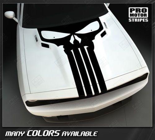 Dodge-Challenger-Punisher-Skull-Hood-Stripe-2008-2009-2010-2011-2012-2013-2014