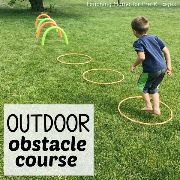 Outdoor Obstacle Course pre-k