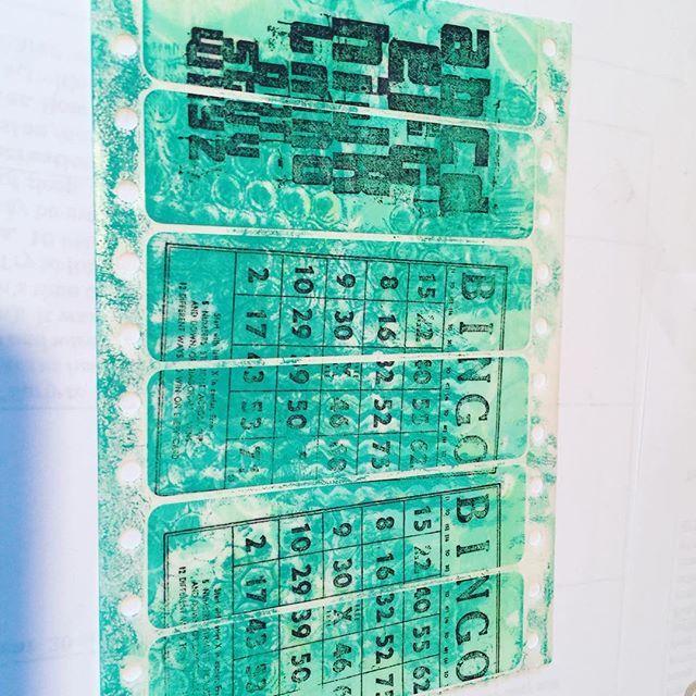 Stamping on gelli print labels! #compulsivecrafting #gelliplate #gelliprint #officesupplies