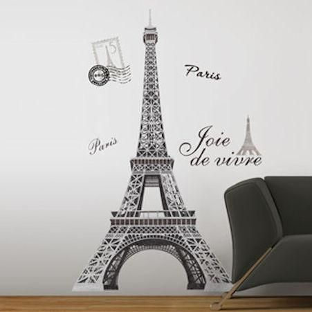 Eiffel Tower Giant Wall Decal Part 89