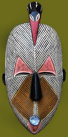 Traditional African Mask,Basangu Tribe,The Congo