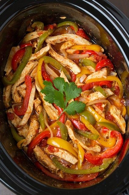 Slow Cooker Chicken Fajitas - chicken fajitas don't get any easier and this slow cooking method gives them incredible flavor!