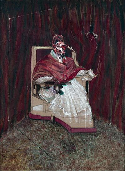 Credit: The Estate of Francis Bacon. All rights reserved. DACS 2013. Lent by Private Collection Francis Bacon: Study for a Portrait of Pope Innocent X, 1965