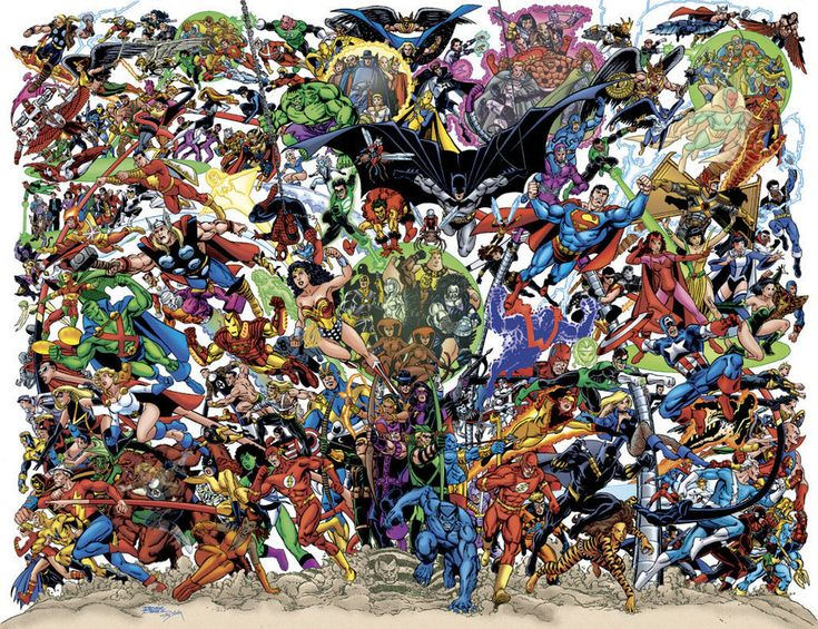 Marvel AND DC Super Heroes in the ULTIMATE POSTER POSE EVER! ! ! ! !