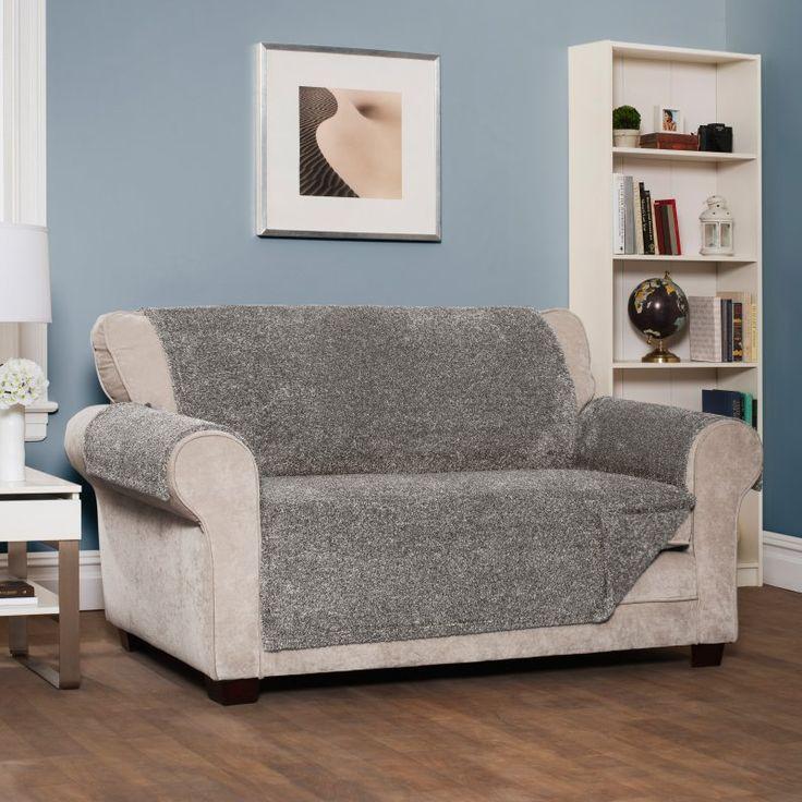 Innovative Textile Solutions Shaggy Sofa Protector - 9596SOFGREY