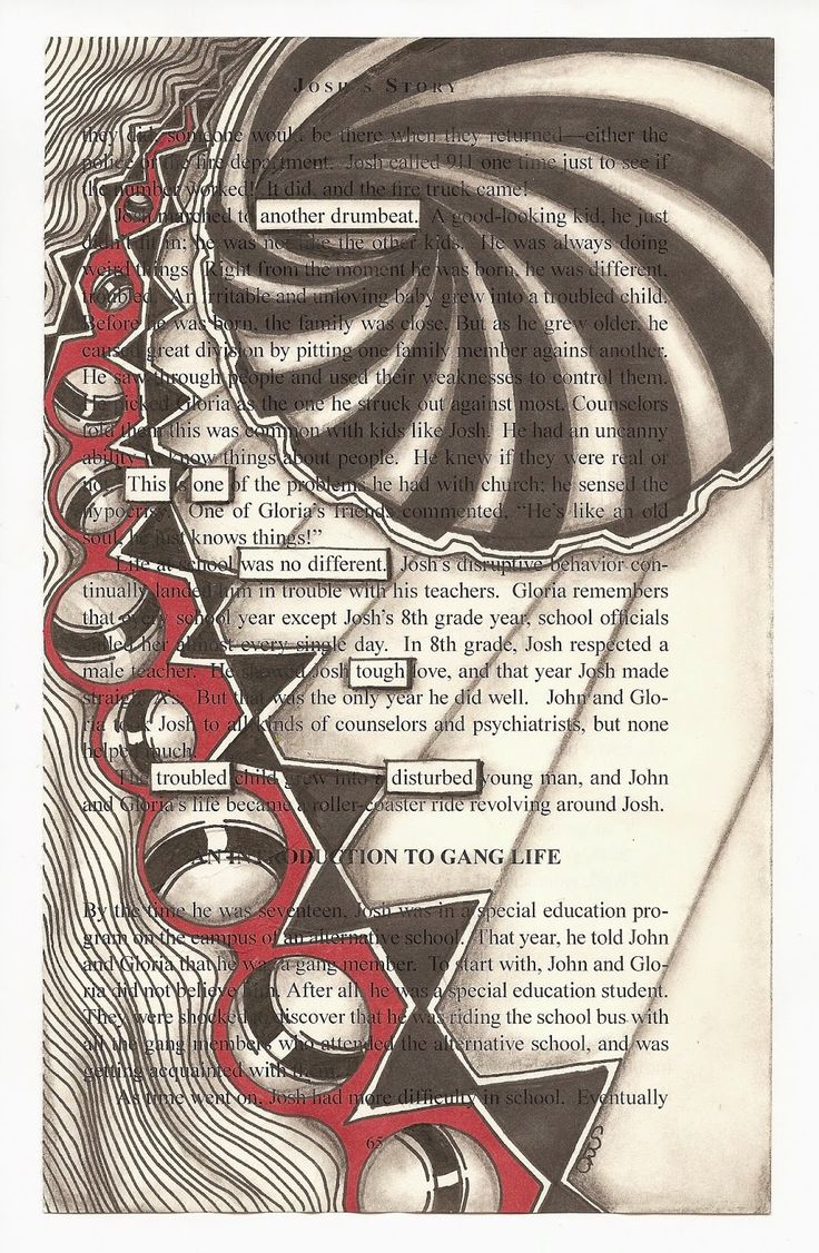 Pages color highlight - Book Page Micron Pen Bic Marker Black And Color Graphite Shading