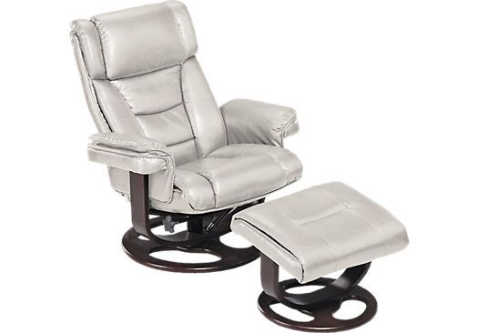 Shop For A Harold Ivory Chair Ottoman At Rooms To Go