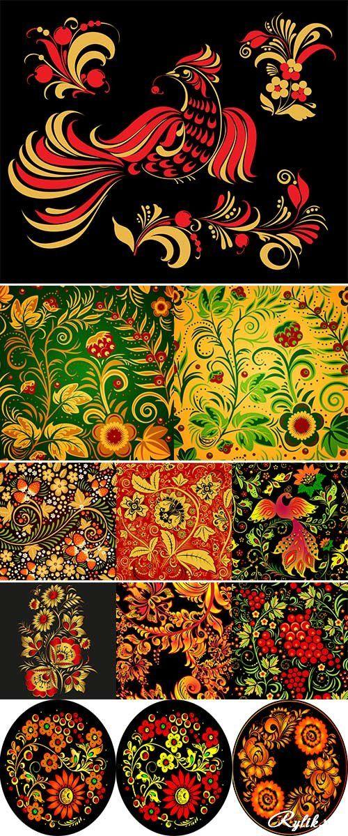 1194 best khohloma images on pinterest russian folk art