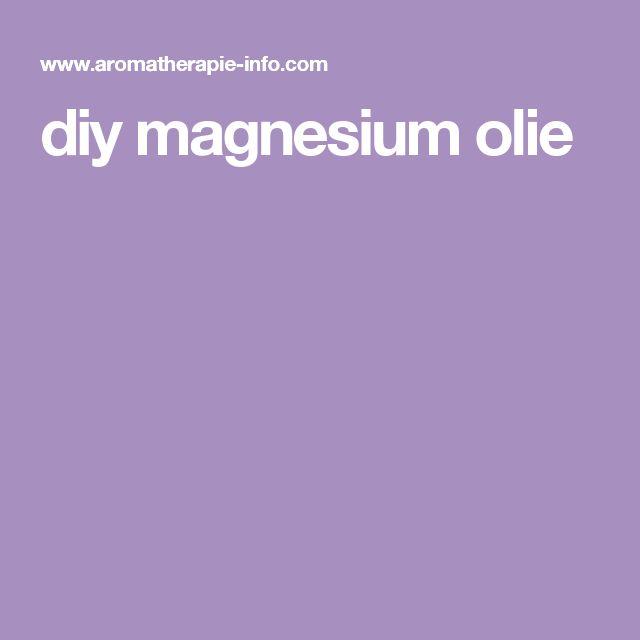 diy magnesium olie