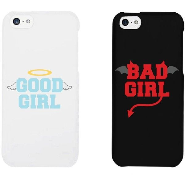 Cute BFF Phone Cases Good Girl Bad Girl Best Friend Phone Accessories... ($18) ❤ liked on Polyvore featuring accessories, tech accessories, phone cases, phone, cases, iphone, galaxy smartphone and lg smartphones