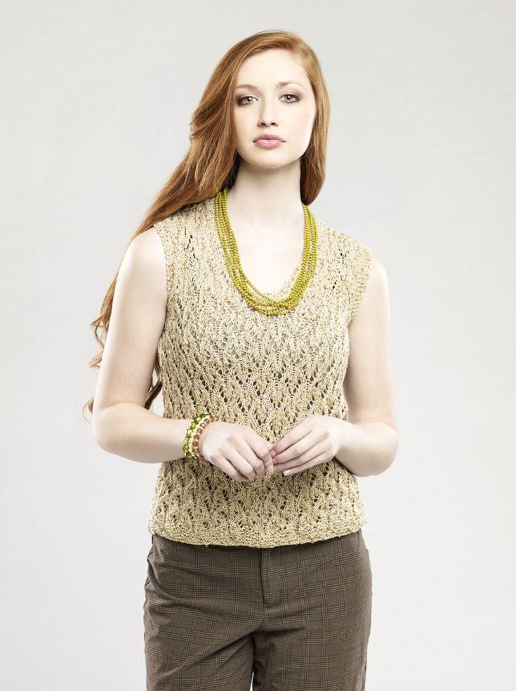 Único Free Knitting Patterns For Cotton Summer Tops Friso - Manta de ...