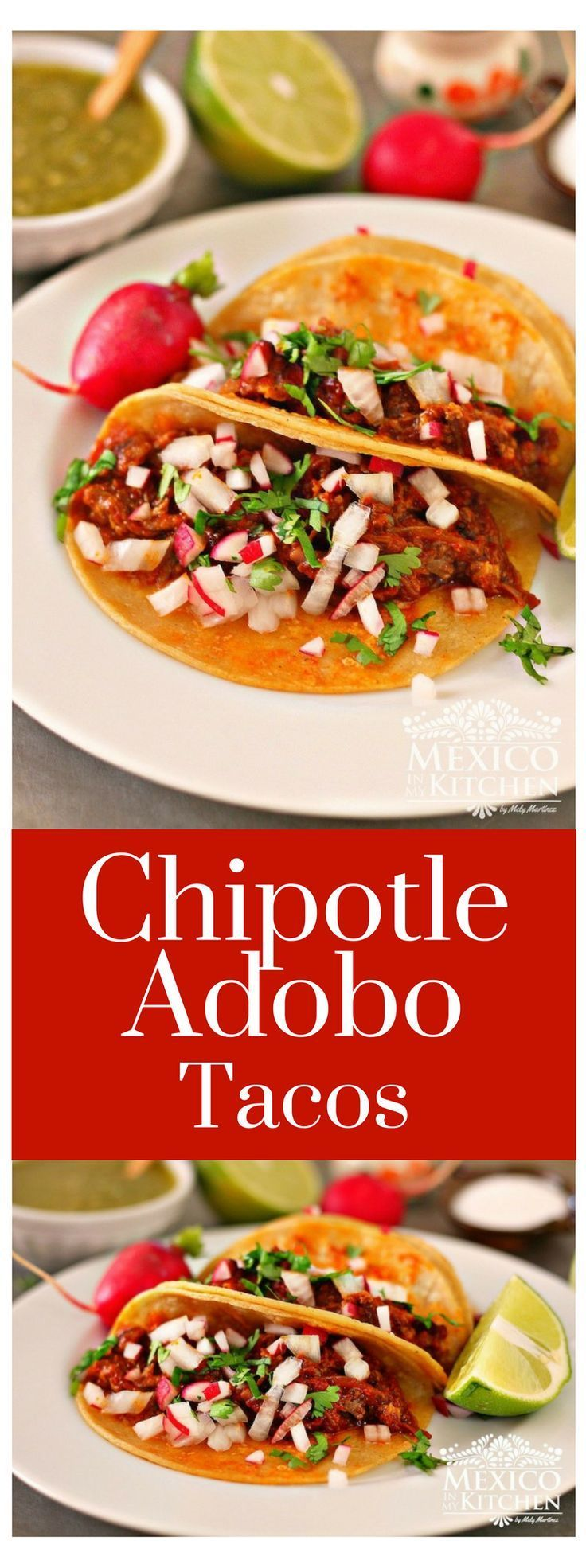 These Chipotle Adobo Tacos made with Oxtail will have you licking the plate for the last drop! The delicious sauce is smooth, and it enhances the Oxtail flavors #recipe #mexican #tacos #homecook