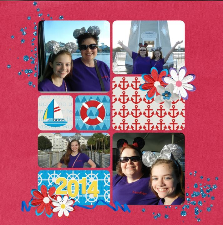 MouseScrappers Weekly Challenge #248 Walt Disney World-Beach Club/Yacht Club(Friendship Boats) Credits: Template-Front & Center Vol 1 by Kellybell Designs Kit-You Quack Me Up by Kellybell Designs