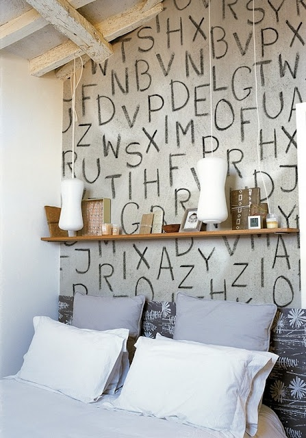 I want to allow my kids to design one of their walls... how fun!