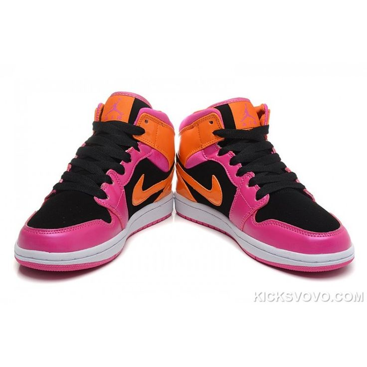 Air Jordan 1 Phat GS Florida Mid Pink Black Orange  Air Jordans Shoe  HistoryAll basketball shoes were white before the introduction of the Air  Jordan