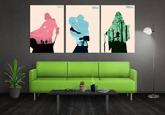 Star Wars Trilogy Poster Set Star Wars Minimalist Poster A New Hope Empire Strikes Back Return of the Jedi Poster Set  The print size/s can be selected from the drop down menu in this listing.  Size: A2 (23.4 x 16.5 inches) A3 (16.5 x 11.7 inches) A4 (11.7 x 8.3 inches) A5 (5.8 x 8.3 inches) Please note artwork is not framed.Please note that actual colors may vary slightly due to monitor settings.  I need 1-3 working days for producing and about 14 days for delivery (Asia, Canada and Aus...