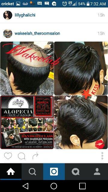 Alopecia short weave  style