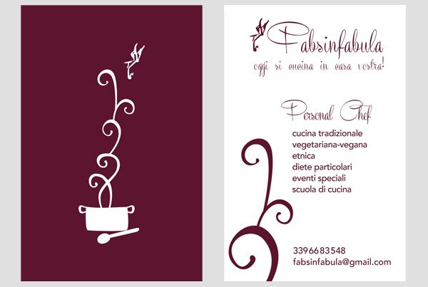 Business card for Fabsinfabula, Personal Chef, Orvieto