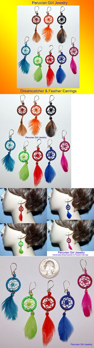 Earrings 98505: 20 Dreamcatcher Feather Earrings Wholesale Jewelry Lot BUY IT NOW ONLY: $36.29