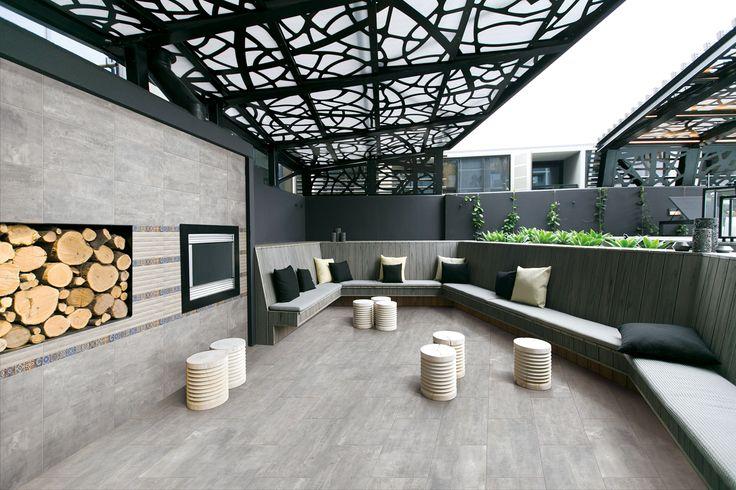 Simple, charming and elegant outdoor living room with OTTAWA Series (OTA601 & OTA603) + wall decor HP605.   #floordesign #walldesign #walldecor #design #outdoor #livingroom