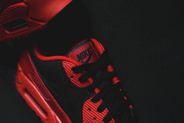 Nike Air Max 90 Premium Gymnase Hiver Rouge / Noir