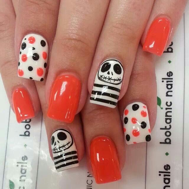 Nightmare before Christmas nails!
