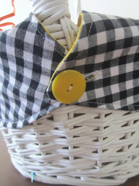 Sew a reversable basket liner.