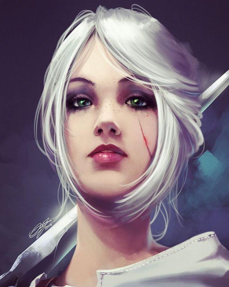 Ciri - Witcher 3 Wild Hunt - Fanart by danielbogni.deviantart.com on @DeviantArt