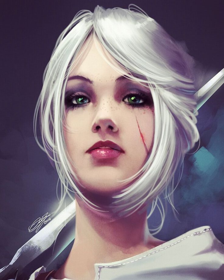 Ciri - Witcher 3 Wild Hunt - Fanart by danielbogni.deviantart.com on @DeviantArt