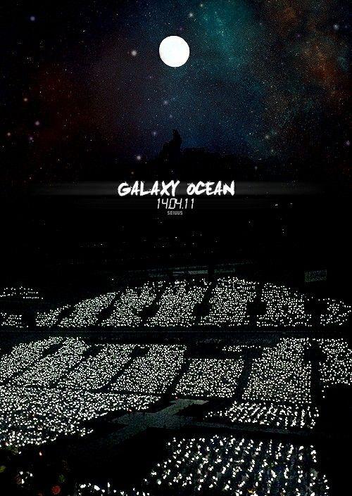 Wishing to be in that galaxy ocean. My feeels.~  ⓔⓧⓞ❤❤