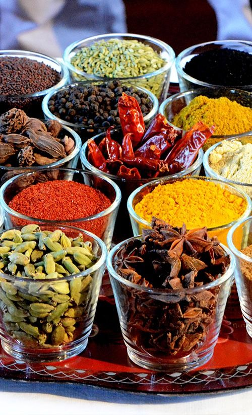 Fragrant spices and herbs