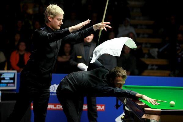 Neil Robertson threw in the towel in the Australian Open final.
