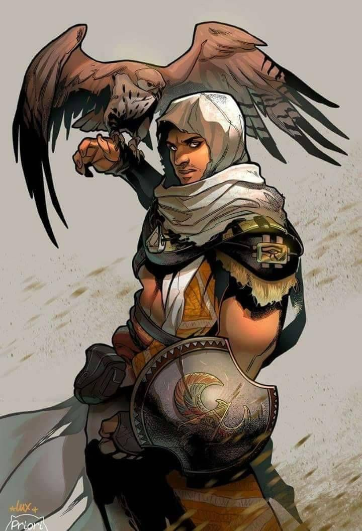 Nothing Is True Bayek Of Siwa Lineart By Lux Portfolio Colors