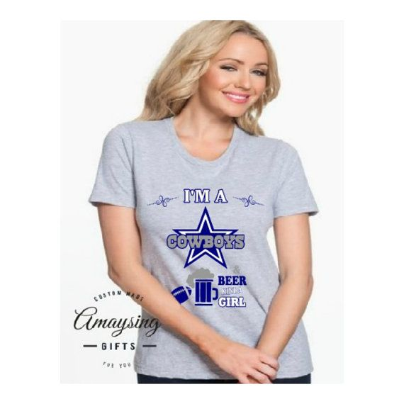 SVG - Cowboys and Beer kinda Girl - Digital Vector Download New Take on the Women and Football Designs, Some just want beer and no wine with their football. This is a great tshirt design, but would make a fantastic card, sign, decal and so much more!  This listing is for the DESIGN ONLY. You will not receive a physical product in the mail.  If youre interested in the shirt please use the url below  http://amaysinggifts.com/amaysing-gifts-products/dallas-cowboys-and-beer-ki...