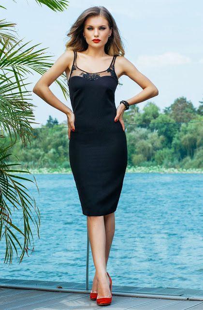 Fashion Trends Romania: Rochie Fely Neagra 2017