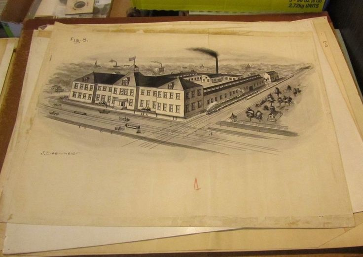 1910 Era Baltimore Maryland Railroad Penn Station Artist Signed Original Drawing