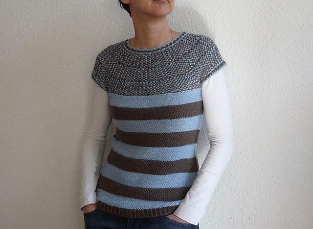 Rotation: a simple to knit top-down seamless circular yoke sweater.