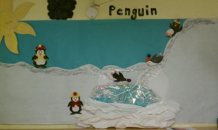 Preschool Winter theme wall Winter Wonderland
