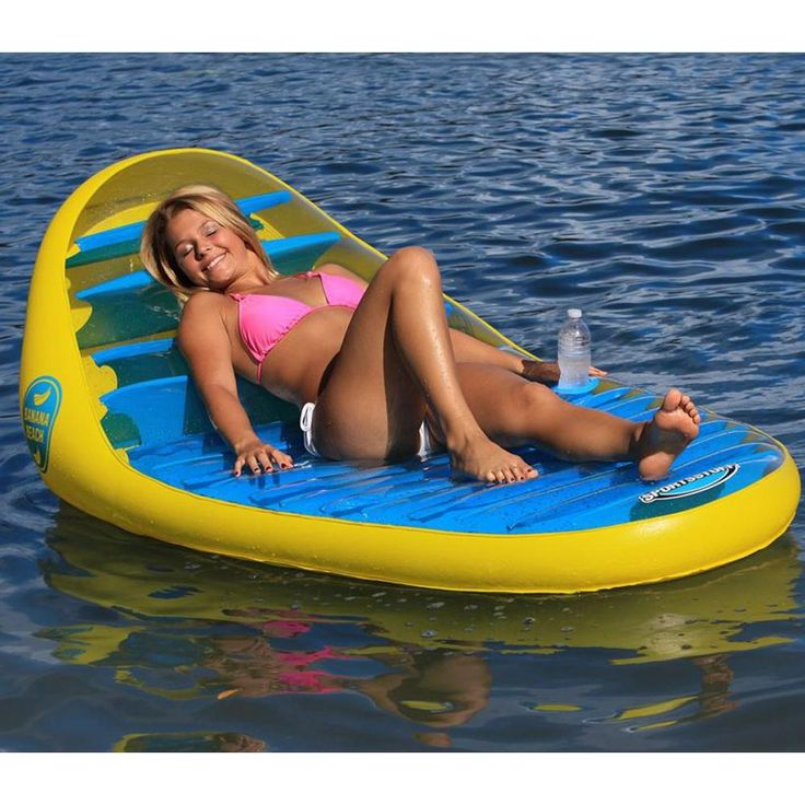Sportsstuff Banana Beach Lounger Inflatable Pool Water