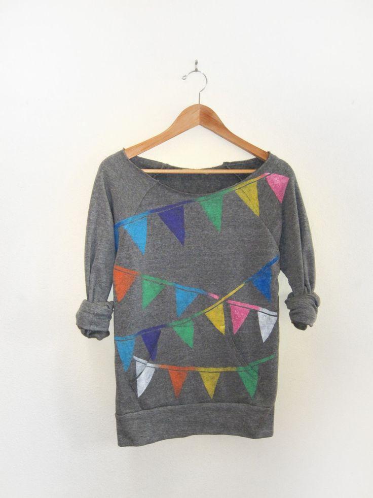 Triangle Bunting Banner sweatshirt