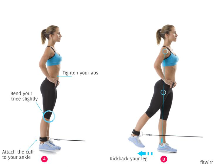 One leg cable kickbacks can shape up your legs and round your backside to give you a nice rounded butt (glutes). It also works on your balance and stability.